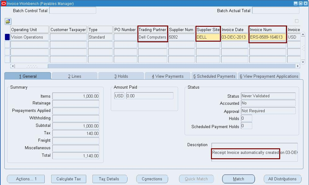 Payment on Receipt Or ERS Functionality | Oracle Apps Reference