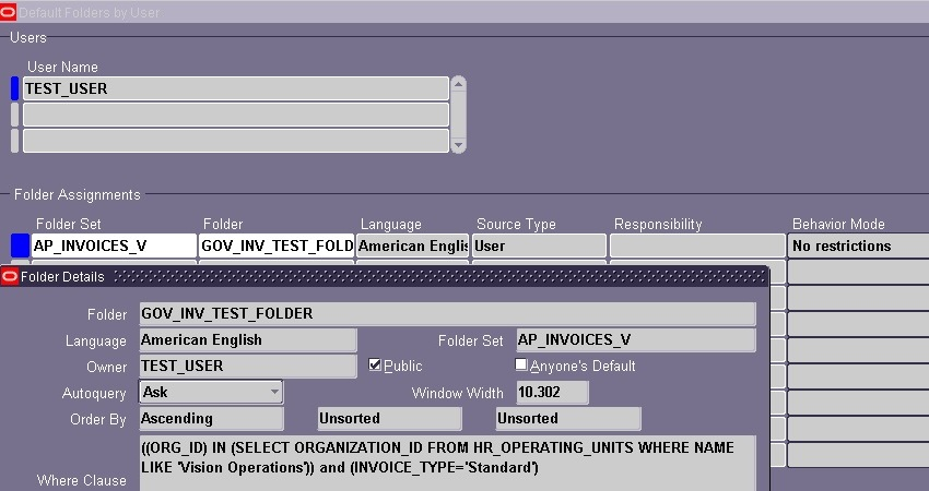Services Invoice Template Excel Administer Folder Setup  Oracle Apps Reference Readsoft Invoices Word with Lil Wayne Receipt Download Excel Navigate Back To Payable Managerinvoicesentryinvoicesit Will Prompt  To Show All Records Of This Folder And On Clicking Yeswill Show All The  Data Gross Receipts Tax Delaware Word