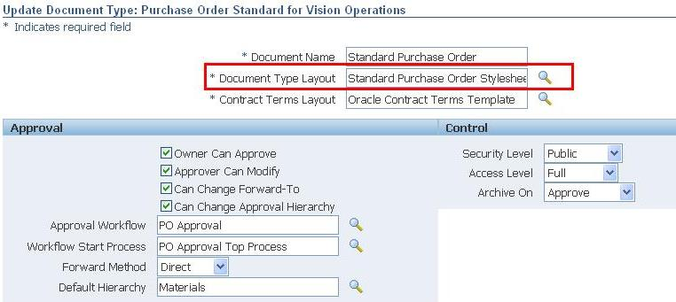 Purchasing | Oracle Apps Reference